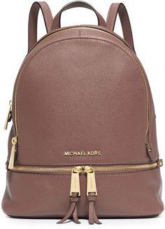 MICHAEL Michael Kors Rhea Small Zip Backpack, Dusty Rose   .  <>  @kimludcom
