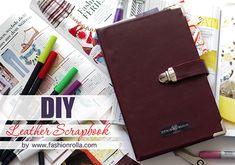[DIY] Leather Scrapbook with tucktite fastener