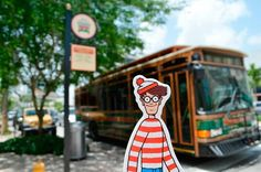 Love the idea of taking Waldo around and getting pictures of him in front of local landmarks for advertising purposes.  Find Waldo Local