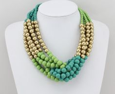 Beaded Statement Necklace, Handmade Bead Necklace, Beaded Strand Necklace, Chunky Necklace, Unique Necklace for Women by Fashion expert Unique Necklaces, Handmade Necklaces, Handmade Jewelry, Unique Jewelry, Beaded Statement Necklace, Beaded Jewelry, Beaded Necklaces, Strand Necklace, Jewellery
