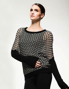 This transparent sweater reveals just enough! Fall 14, Cami, Knitwear, Elegant, Knitting, Sweaters, Collection, Tops, Women