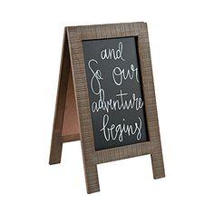 Chalkboard Easel, Black Chalkboard, Chalkboard Signs, Neon Open Sign, Distressed Frames, Fun Express, Diy Wedding Projects, Wedding Ideas, Gift Table