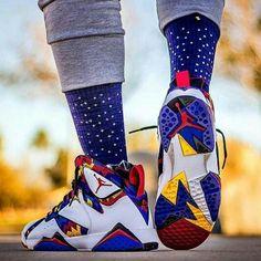 Jordan Retro 7 Sweater Via Jordan Shoes Girls, Air Jordan Shoes, Nike Free Shoes, Running Shoes Nike, Nike Sneakers, Sneakers Fashion, Custom Sneakers, Zapatillas Jordan Retro, Zoom Iphone