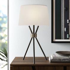 Modern Table Lamp, Table Lamp Base, Tripod Table, Standard Lamps, Decor, Panel Curtains, Contemporary Table Lamps, Tripod Lamp, Tripod Table Lamp