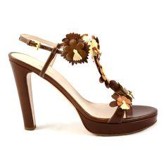 #PRADA #sandals #brown #flowers fantasy #shopatvoi.com $392.00
