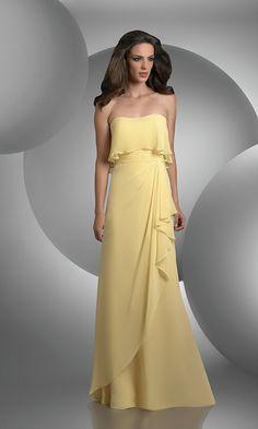 Sheath/ Column Strapless Floor-length Chiffon Prom Dress - HerBridal Singapore