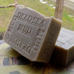 Dead Sea Mud Soap With Anise and Bay Laurel Soap - Black Natural Minerals Mud Soap