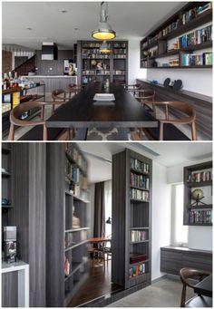 praktische-wohnideen-geheimtür-grau-bibliothek-wand-esszimmer