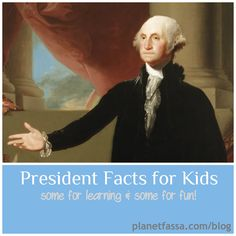 {President Facts for Kids} Great facts to share about Washington's Birthday (aka Presidents Day) and U.S. Presidents, and some really silly ones, too. Like who owned a pet goat (seriously) and had them live in the White House (seriously.)