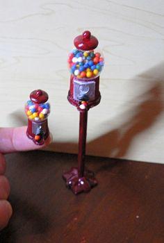 Melinda's Miniaturen und Hexenstube (Alles rund um Miniaturen und Puppenstuben 1:12) gumball machines tutorial