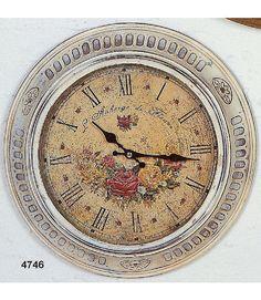 Mit unseren zeitlosen romantischen Uhren kombinieren Sie stilsicher das Nützliche mit dem Angenehmen. Das Blumen Motiv und die römischen Zahlen machen die Wanduhr mit Rahmen zu einem dekorativen Stück mit hohem Schauwert. Die Uhr im Vintage Look ist aus Metall gefertigt und hat die Maße (Ø/H): 35/6 cm.   Artikeldetails:  Dekorative Uhr, Im Vintage Look, Mit römischen Zahlen,  Maße:  Maße (Ø/H):...