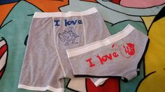Pokemon Underwear, Couples Underwear, Bachelor Party, Bachelorette Party, Anniversary Gift, Nerdy Boxers, Nerdy Underwear , Mew, MewTwo