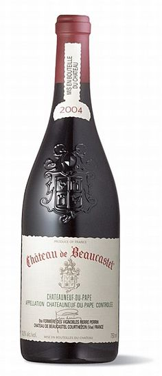 "Château de Beaucastel Châteauneuf-du-Pape 2004 - Robert Parker, Wine Advocate, 93 points - ""Loads of liquorice, smoked game, black cherry and blackberry fruit, along with incense and truffle. A fabulous richness, high tannin, medium-to-full body, and beautiful length, richness, and purity. This is a beauty ... It has the potential to be one of the longest-lived Chateauneuf du Papes of the vintage. Drink now to 2025."" 14% ABV"
