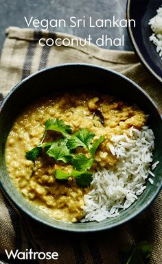 Vegan and gluten-free dhal packed with Sri Lankan spices. This dish is sure to be a hit with the whole family. See the full recipe on the Waitrose website. Lentil Recipes, Veg Recipes, Curry Recipes, Indian Food Recipes, Asian Recipes, Vegetarian Recipes, Cooking Recipes, Healthy Recipes, Waitrose Food