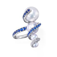 White Gold / Akoya Pearls / South Sea Pearls / Diamonds / Sapphires