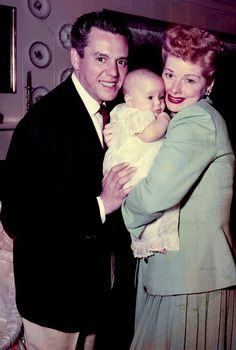 Desi Arnaz and Lucille Ball with there son Desi Jr.