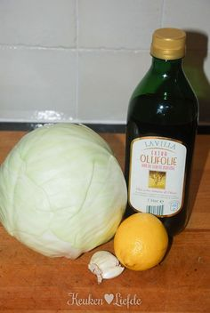 Geroosterde wittekool met knoflook en citroen - Keuken♥Liefde Cabbage, Dairy, Favorite Recipes, Cheese, Vegetables, Food Project, Om, Salad, Veggie Food