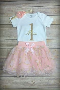 Hey, I found this really awesome Etsy listing at https://www.etsy.com/listing/491807028/1st-birthday-girl-outfit-customize-first