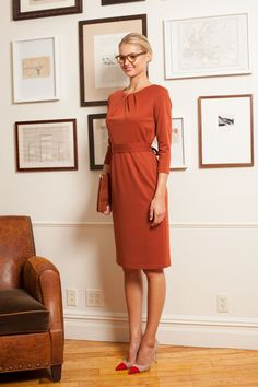 Emploi Lexington Long Dress in Rust