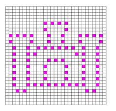 Crochet Bobble Stitch Pattern Castle