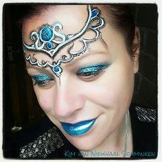 Inspired by Lea Holman 3d crown facepaint