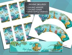 Instant Download  Printable  Zoo Animals by ScrappinTagsAndMore, $7.50