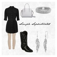 """Simple Sophisticated"" by erinakruger on Polyvore featuring The Row, Topshop, Laredo, Kate Spade and Lagos"