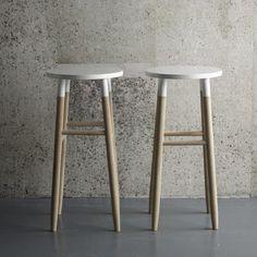 White Dipped Stool | Furniture | Design Vintage