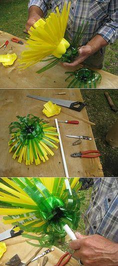 Garden Art Recycled Plastic Bottles 29 Ideas For 2020 Garden Art Recycled Plastic Bottles 29 Ideas For 2019 Plastic Bottle Crafts, Plastic Recycling, Recycle Plastic Bottles, Recycled Bottles, Recycled Crafts, Diy And Crafts, Kids Crafts, Garden Crafts, Garden Art