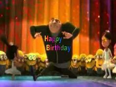 Happy Birthday, Despicable Me Style! Happy Birthday Video, Happy Late Birthday, Happy Birthday Minions, Birthday Songs, Happy Birthday Wishes, Birthday Quotes, Birthday Cards, Minion Theme, Minion Movie