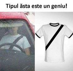 Fake seat belt t-shirt meme Joker, Novelty Shirts, Cleopatra, Swagg, Videos, Funny Pictures, Funny Pics, Funny Memes, Car Memes