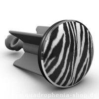 """Etwas """"harmloser"""", aber ebenso wild und schön: Der Plopp Waschbeckenstöpsel Zebra. Welchen Stöpsel favorisiert Ihr?"""