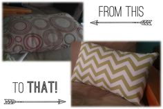 Super Easy 5 step tutorial for DIY hand sewn pillow case! Great for college students looking to jazz up their place on a budget! I think the whole project cost me about $10.