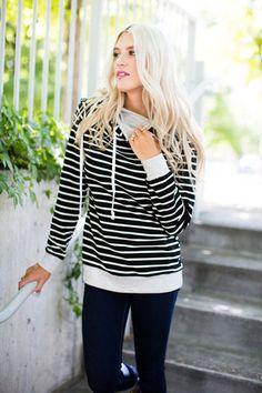 Double Hooded Sweatshirt - Black – Mindy Mae's Market