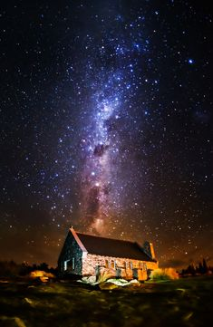 """This is one of The Darkest Skies in the World. You may find this snippet interesting: """"A delegation from the country has successfully petitioned UNESCO for the protection of 'sky-scapes' as well as landscapes under their World Heritage system, in order to see the status granted to the air above Tekapo and Aoraki Mount Cook."""" - Lake Tekapo, New Zealand - Photo from #treyratcliff Trey Ratcliff at http://www.stuckincustoms.com/"""