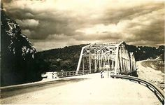 Real Photo Postcard Swan Creek Bridge near Forsyth, Missouri