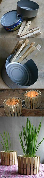 Clothes Line Planter Candles