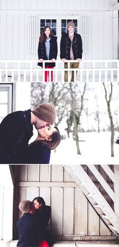 engagement session - snow - canada - cold - canada e-session