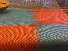 100% silk yarn weaving - floor loom