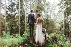Run away to the woods and get married? We're all about forest elopements. For inspiration, take a look at this camping inspired forest wedding in the Howling Wilderness - located in the Santa Cruz Mountains.