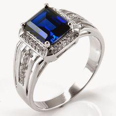 gemstone rings men light blue