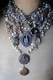 gorgeous vintage repurposed rosaries and christian charms multi-strand necklace - Bijouterie Etsy Jewelry, Jewelry Stores, Jewelry Art, Beaded Jewelry, Vintage Jewelry, Jewelry Design, Fashion Jewelry, Unique Jewelry, Vintage Necklaces