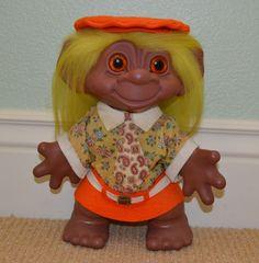 RARE Vintage 60s Dam Things African-American Scandia Mod Maude Black Troll Doll