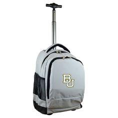 NCAA Baylor Bears Grey Premium Wheeled Backpack