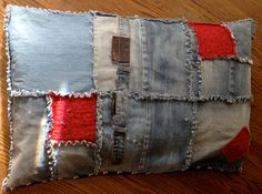 Patched, Ragged Blue Jean Dog Bed