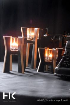 Candlesticks LAMPIO H  is a shot of the original design, which will add to your interior a new character.  The warmth of wood combined with white and black laminate, give them a great style.  Candlesticks are available in three heights and shapes. You can freely compose, although we do not hide that they liked each other's company and so best to blend. #candle #candlestick #decor #homedecor #design #konzept #konzepthome #gift