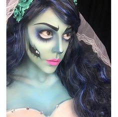 "Regram from the beyond talented @luvekat with her makeup for #CorpseBride topped off with our #BabyDollight wig. - ""Can a heart still be BROKEN, once it's stopped beating..."" #corpsebridemakeup#corpsebridecosplay#mua#anastasiabeverlyhills#sugarpill#WolfeFaceArtFX#halloweenmakeup#rockstarwigs#wakeupandmakeup#hudabeauty#timburton#gothiclolitawigs#sfxmakeup#sfx#halloween#costume#costumeidea#cosplay#cosplayer"
