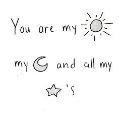 Sun, moon and stars.