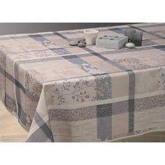 Nappe De Table Nappe anti-taches Jacquard taupe - taille : Ovale