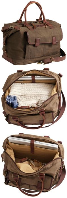 The Oil Cloth Weekender Travel Bag goes the distance with moisture-resisting…